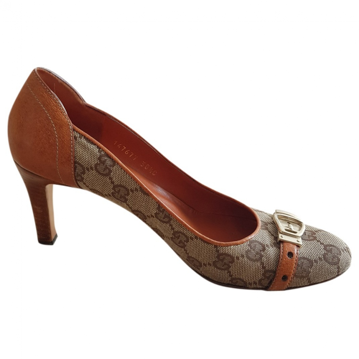 Gucci \N Brown Cloth Heels for Women 38.5 EU
