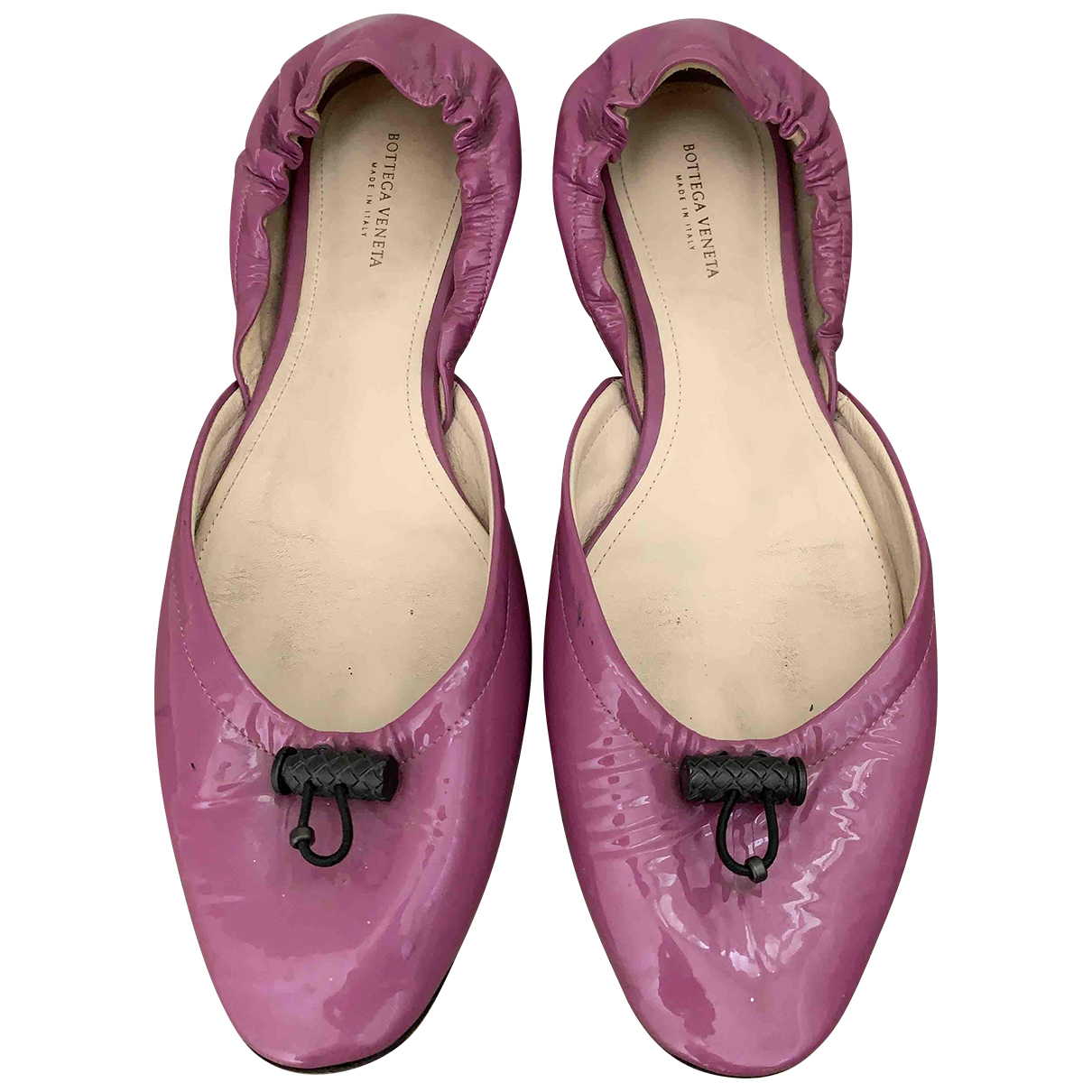 Bottega Veneta \N Pink Patent leather Ballet flats for Women 38.5 EU