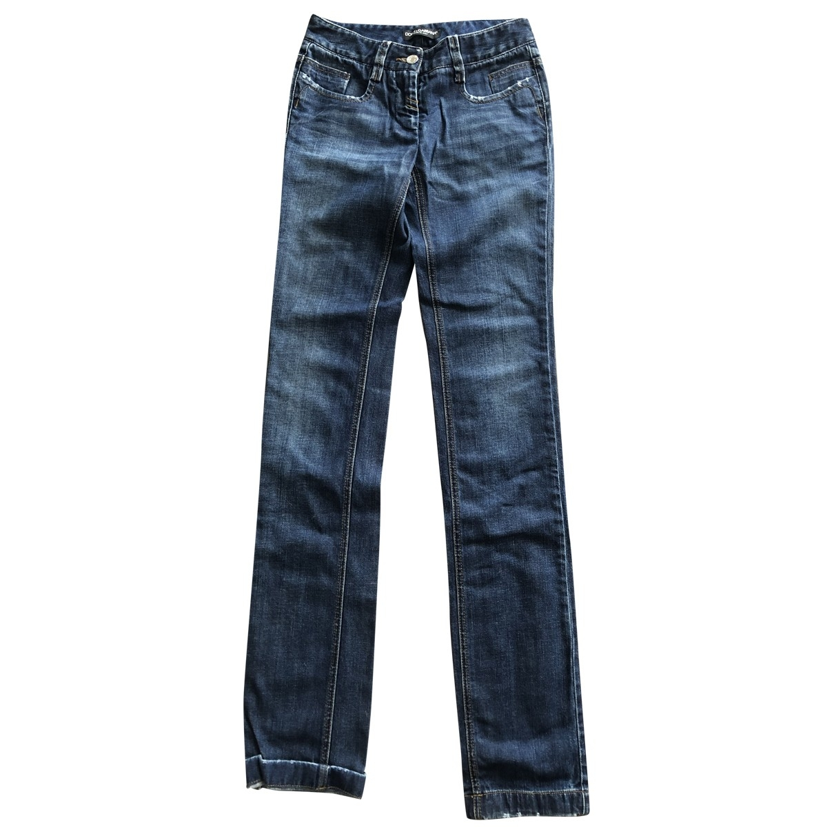 Dolce & Gabbana \N Blue Cotton Jeans for Women 36 FR