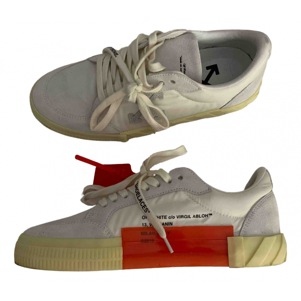 Off-white Vulcalized White Leather Trainers for Men 41 EU