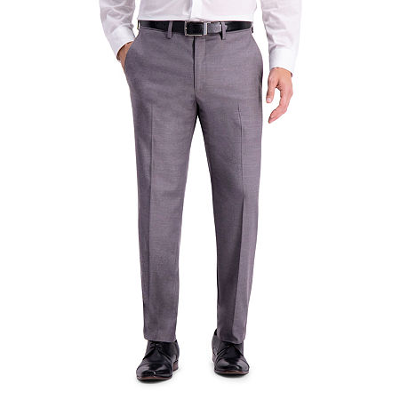 Haggar Mens Stretch Slim Fit Suit Pants, 34 30, Gray