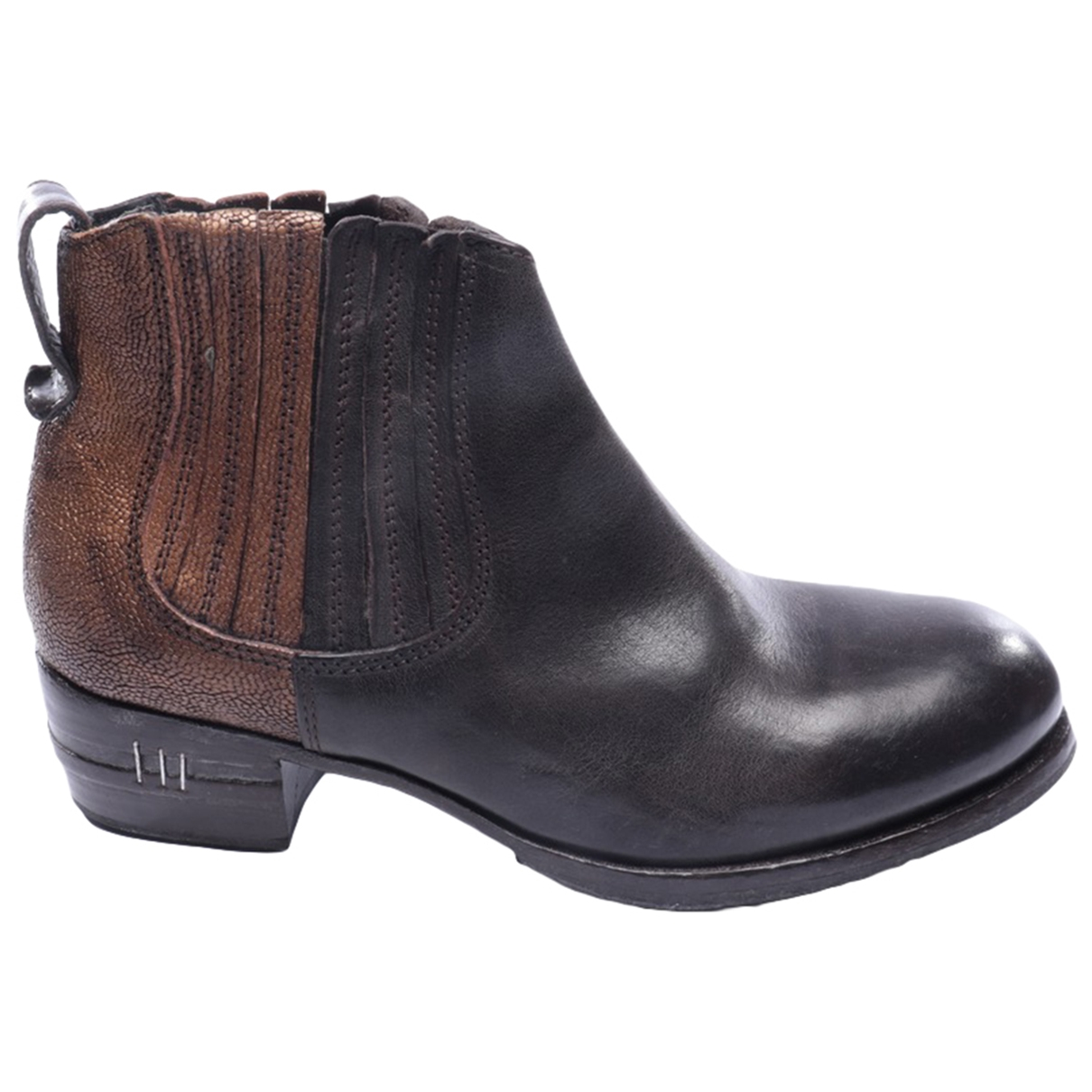 Moma \N Metallic Leather Ankle boots for Women 37 EU