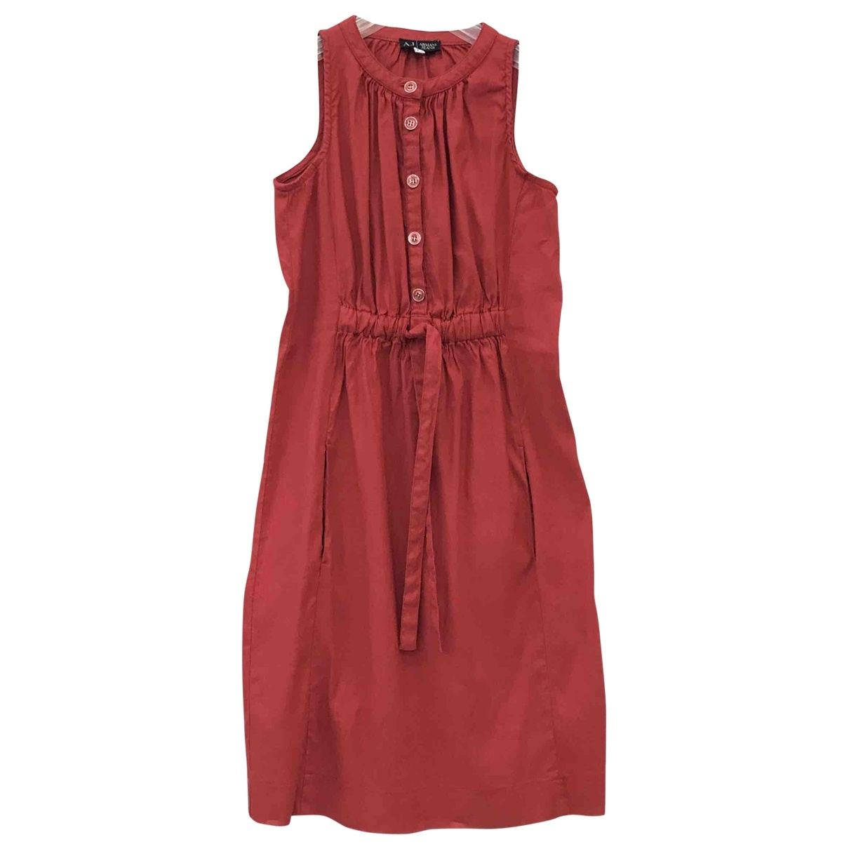 Armani Jeans \N Red Linen dress for Women 42 IT