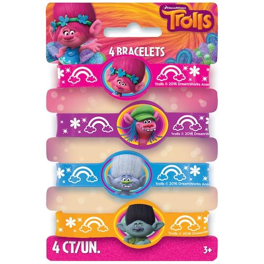 Trolls Rubber Bracelet Party Favors, 4Ct By Dreamworks   Michaels®