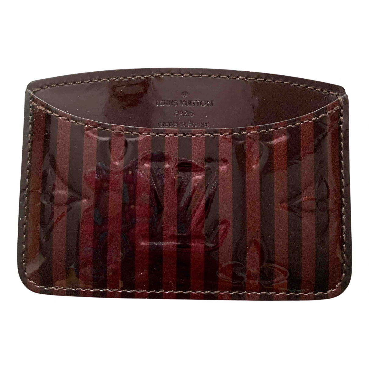 Louis Vuitton \N Burgundy Patent leather Purses, wallet & cases for Women \N