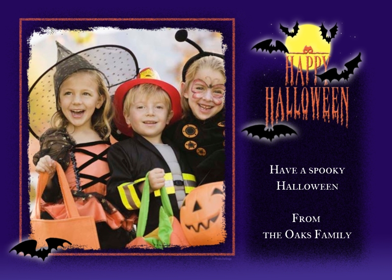 Halloween Photo Cards 5x7 Cards, Premium Cardstock 120lb with Scalloped Corners, Card & Stationery -Spooky Halloween