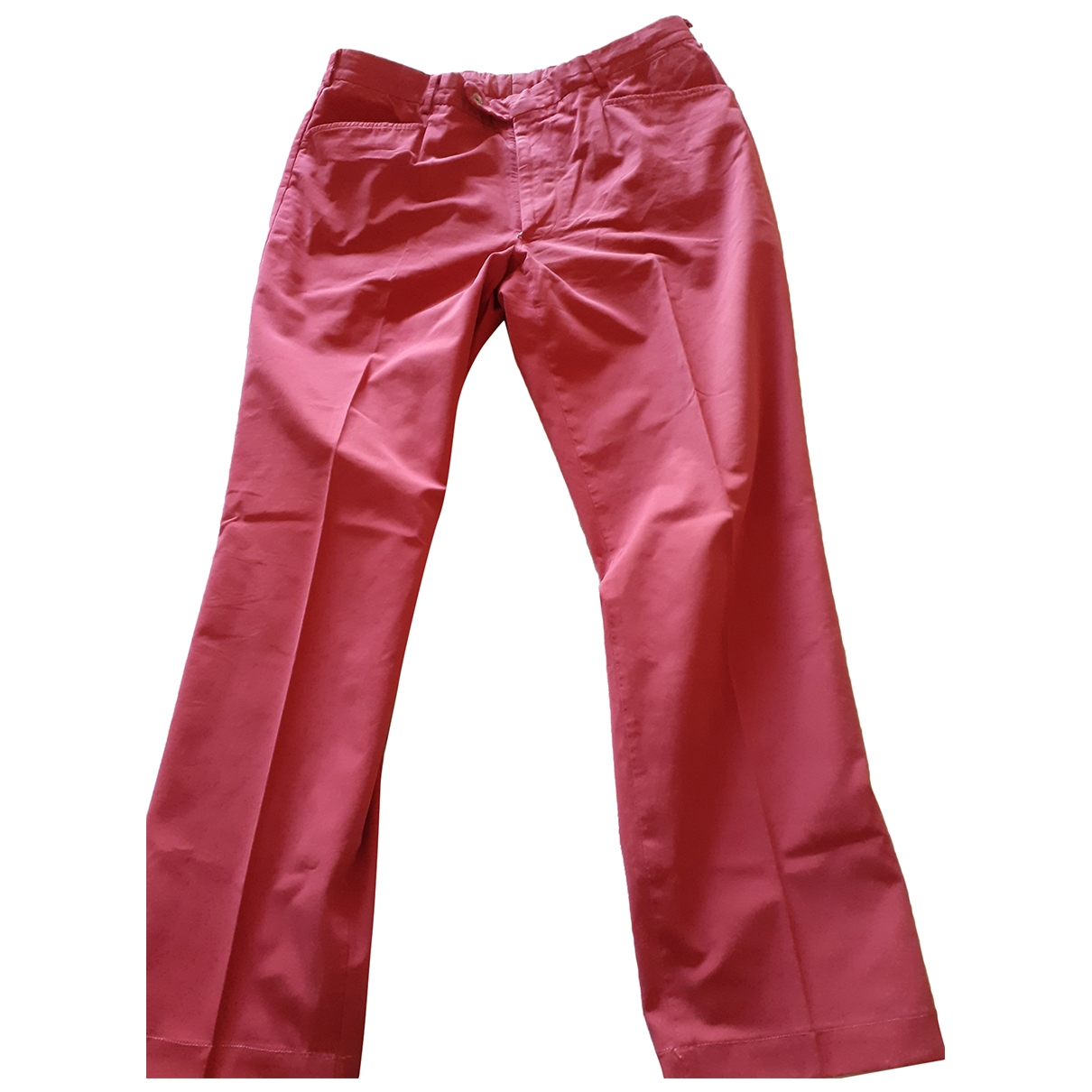 Burberry \N Red Cotton Trousers for Men XL International