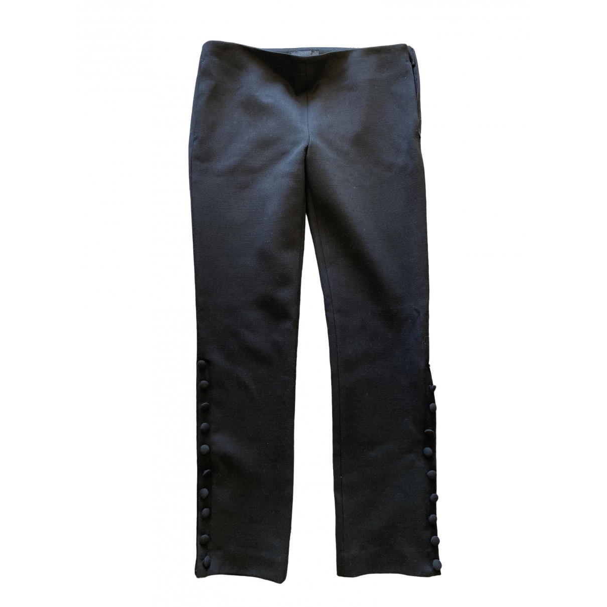 The Row \N Black Wool Trousers for Women 2 US