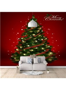 3D Christmas Tree Wall Mural Eco-friendly Non-woven Fabrics Home Decoration