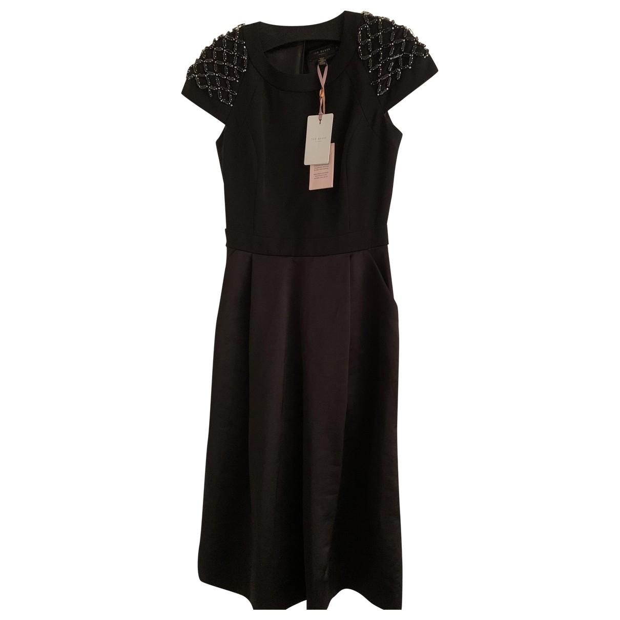 Ted Baker \N Black Cotton - elasthane dress for Women 8 UK
