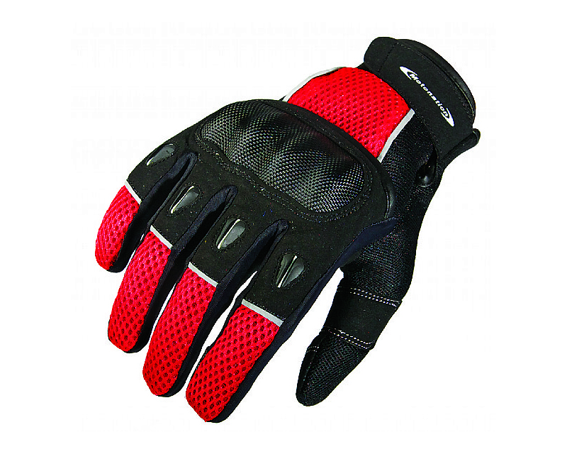 Motonation MNS-GRP-BKRD-6XL Apparel Rapita Short Textile Glove (Black/Red - XL)