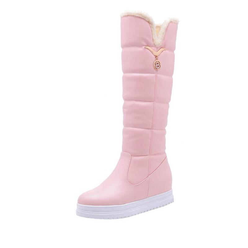 Ericdress Round Toe Hidden Elevator Heel Snow Boots