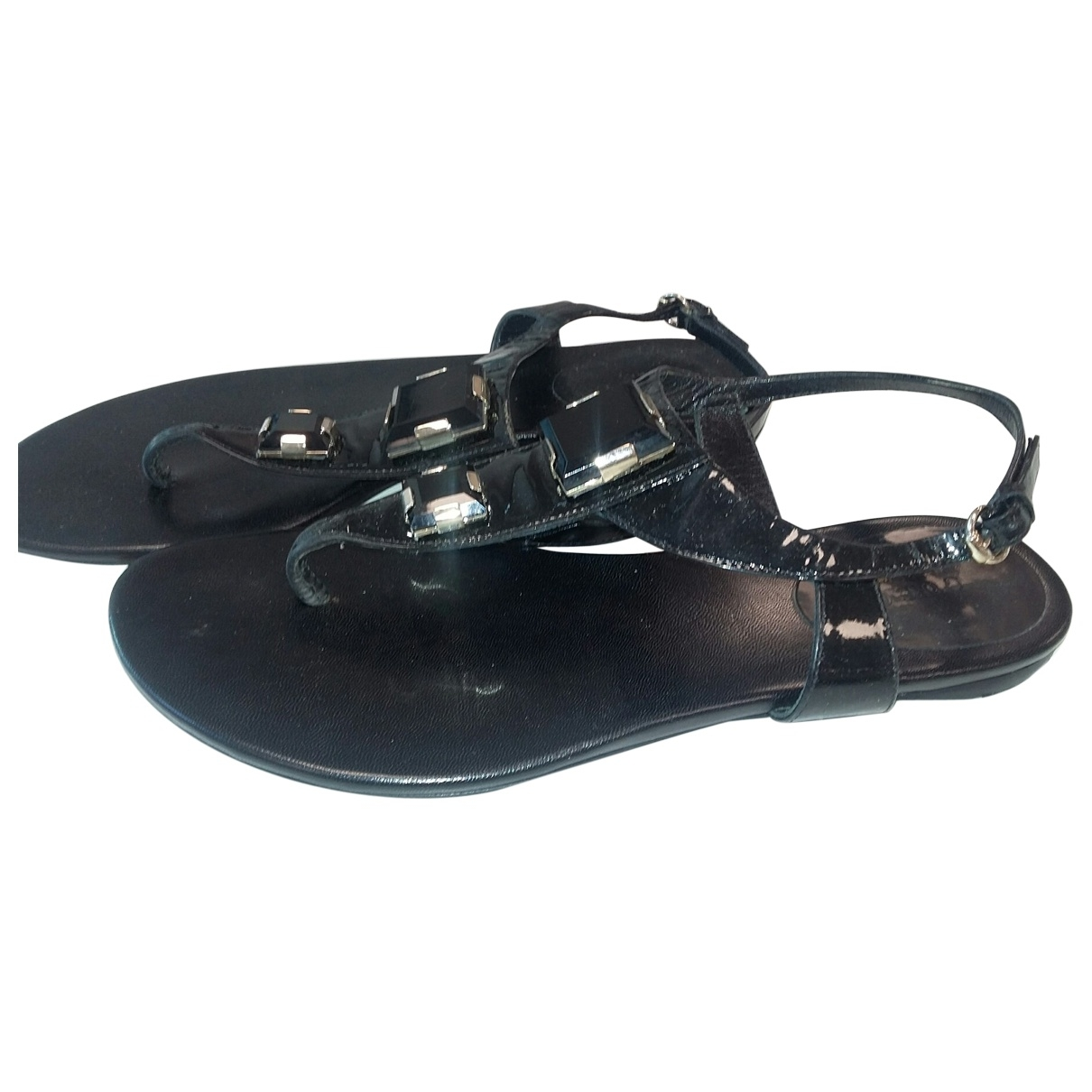 Gucci \N Black Patent leather Sandals for Women 37 EU