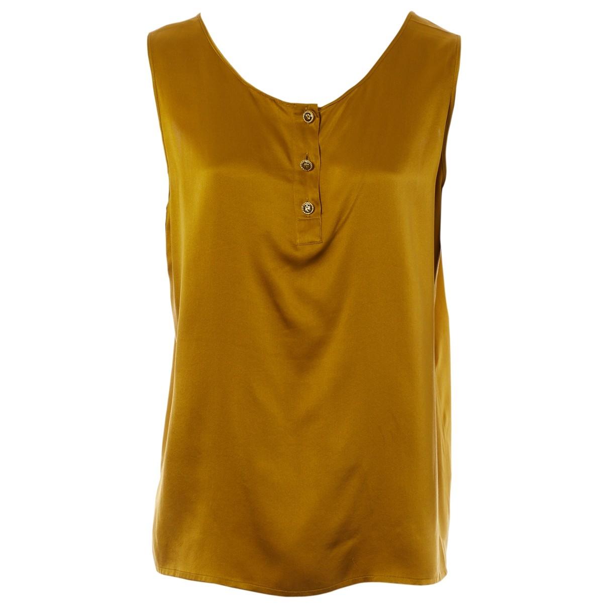Chanel \N Gold Silk  top for Women 38 FR