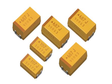 AVX Tantalum Capacitor 10μF 20V dc Electrolytic Solid ±10% Tolerance , TPS (2000)