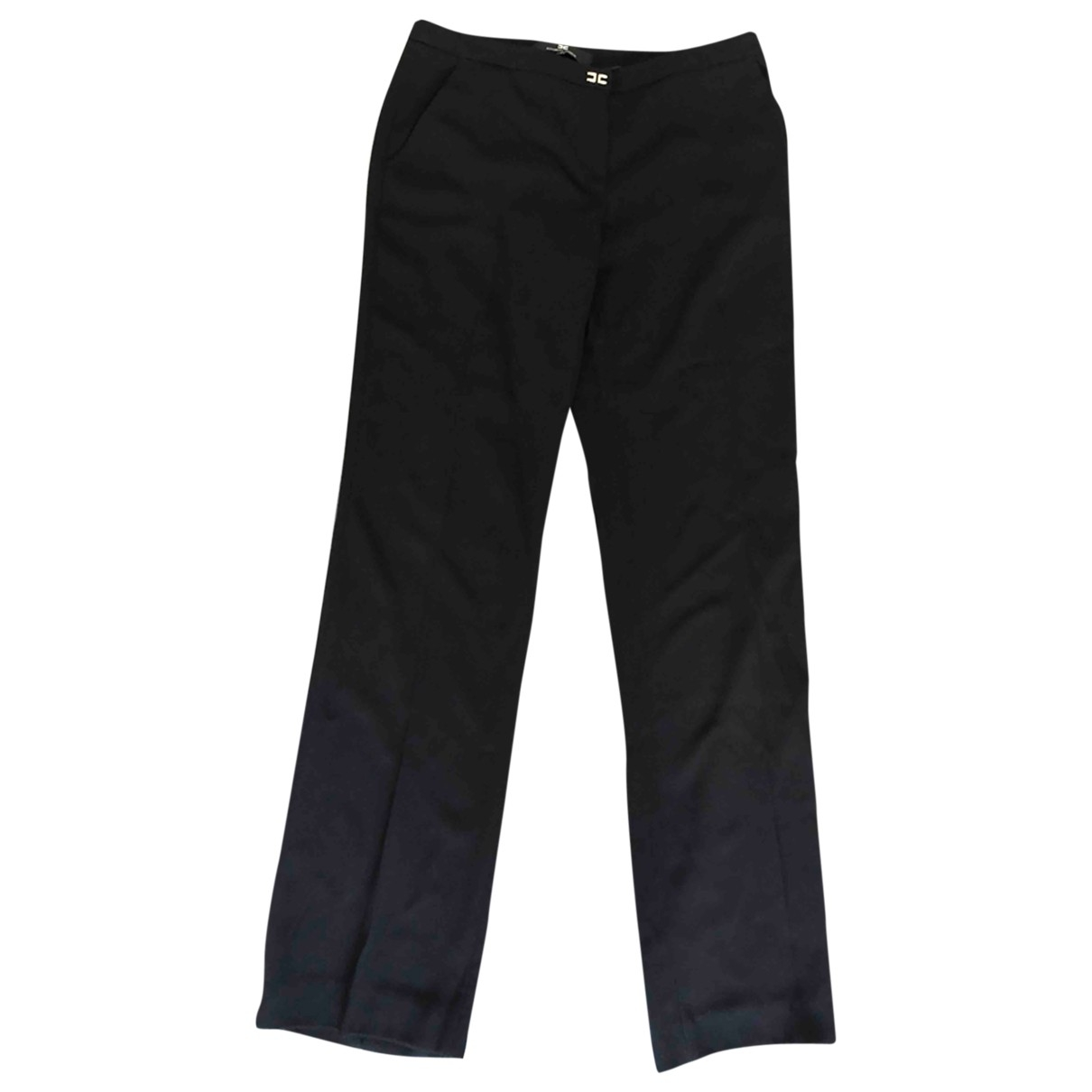 Elisabetta Franchi \N Black Cotton Trousers for Women 42 IT