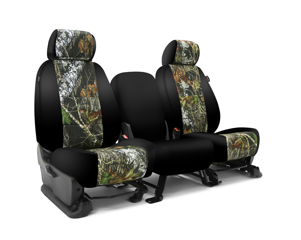 Coverking CSC2MO01FD9656 Skanda Custom Seat Covers 1 Row Neosupreme Mossy Oak Break Up with Black Sides Front Ford F-250 | F-350 Super Duty 2012-2016