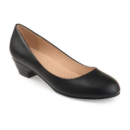 Journee Collection Womens Saar Pumps Block Heel, 6 Medium, Black