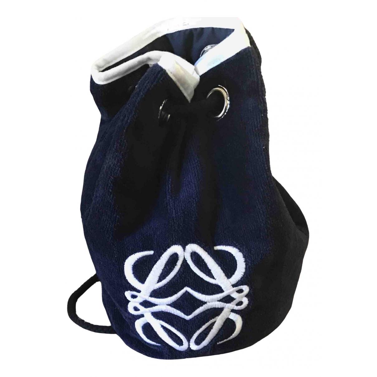 Loewe \N Navy Cotton backpack for Women \N
