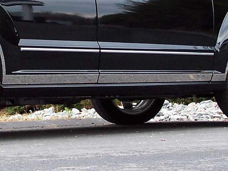 Quality Automotive Accessories 6 Piece Stainless Steel Rocker Panel Trim Kit Dodge Caliber  07-12