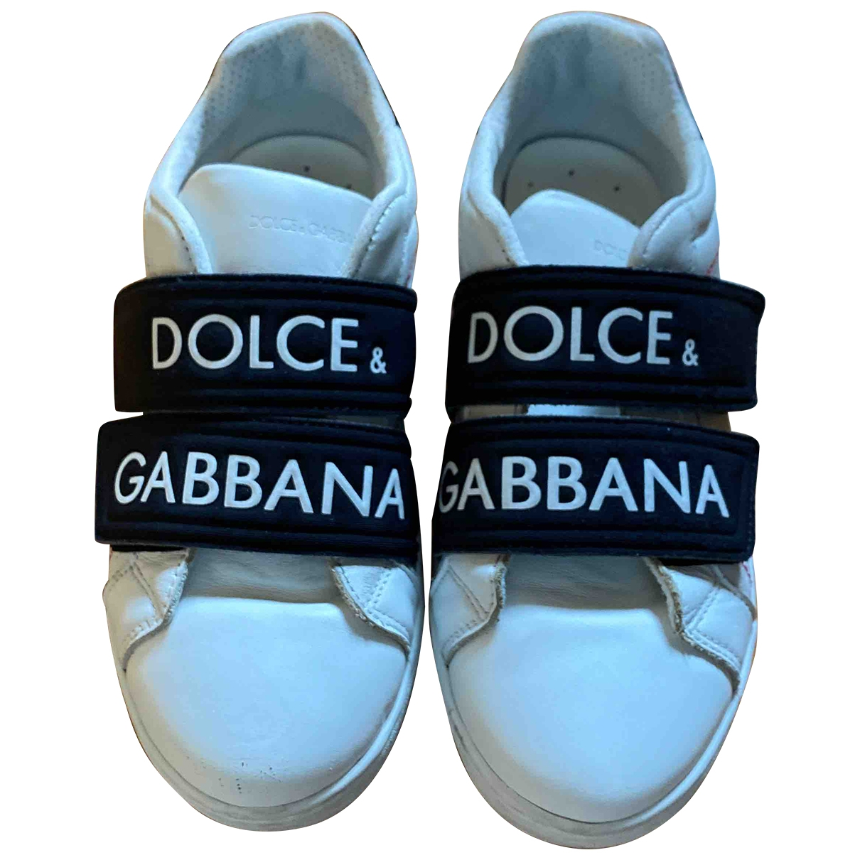 Dolce & Gabbana \N White Leather Trainers for Kids 31 EU