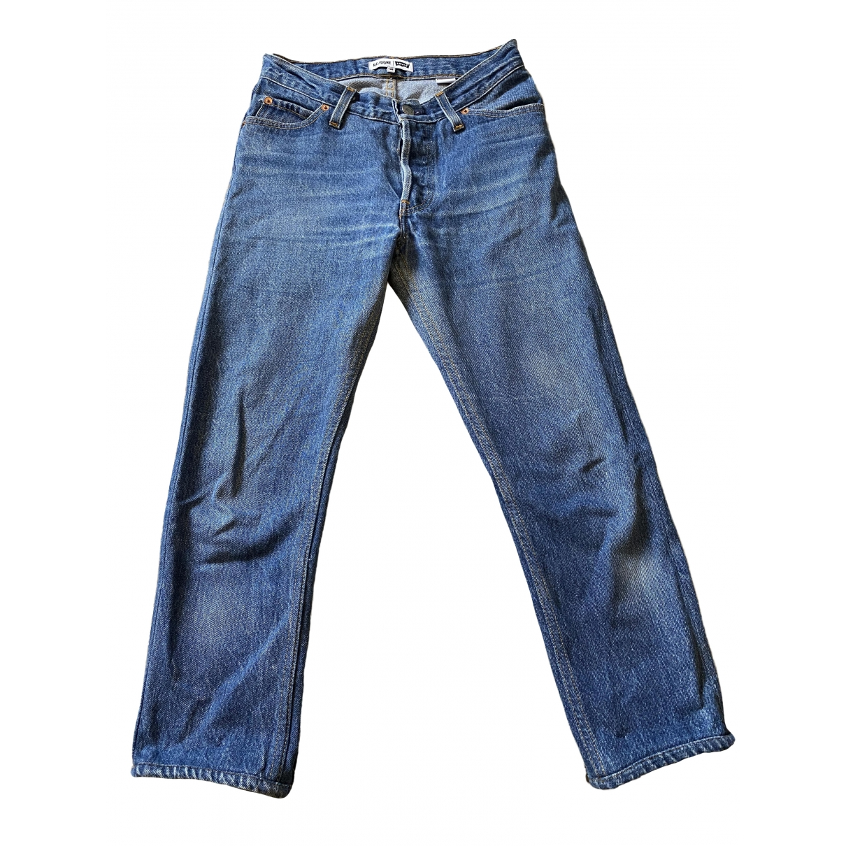 Re/done X Levi's \N Blue Cotton Jeans for Women 24 US