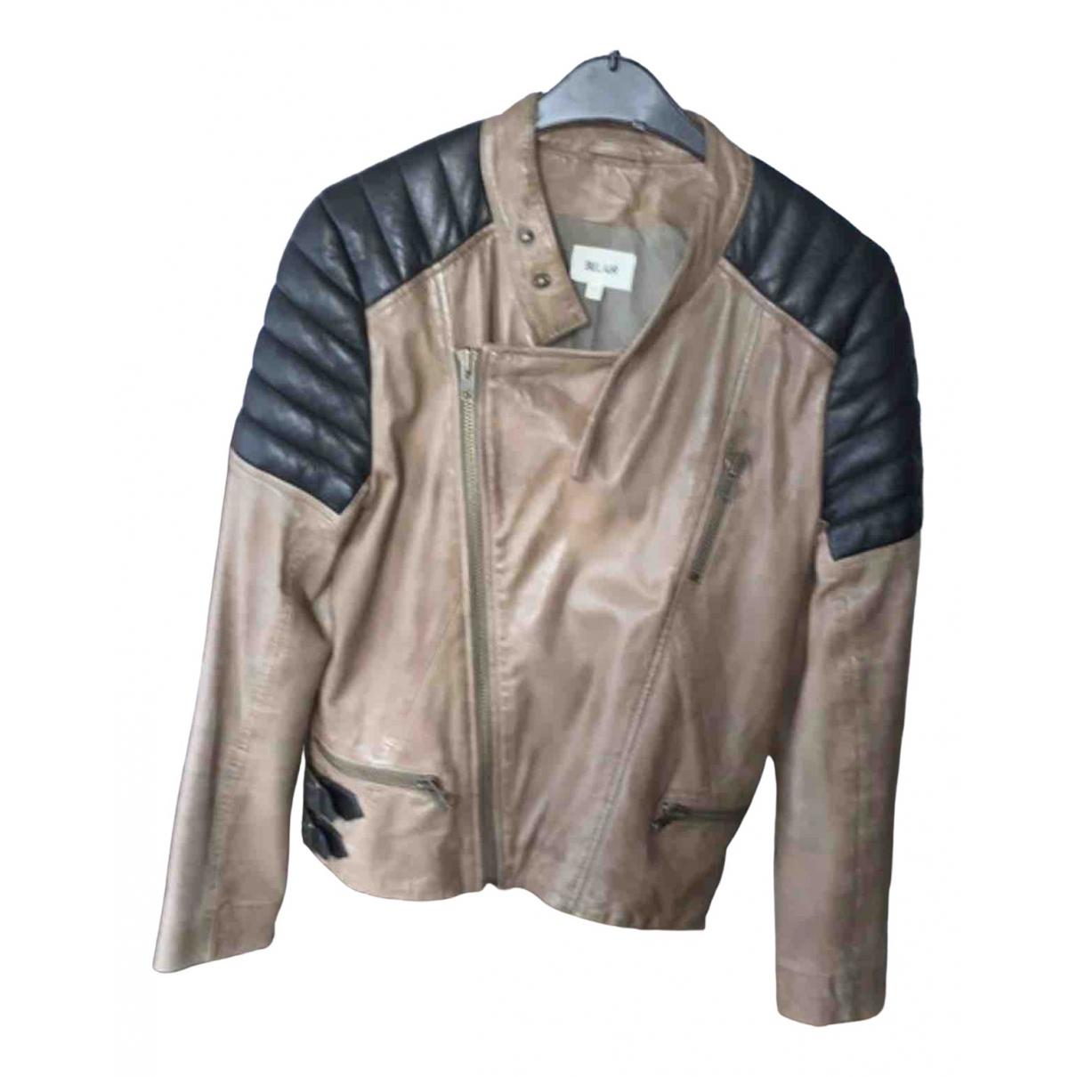 Bel Air \N Black Leather Leather jacket for Women 40 FR