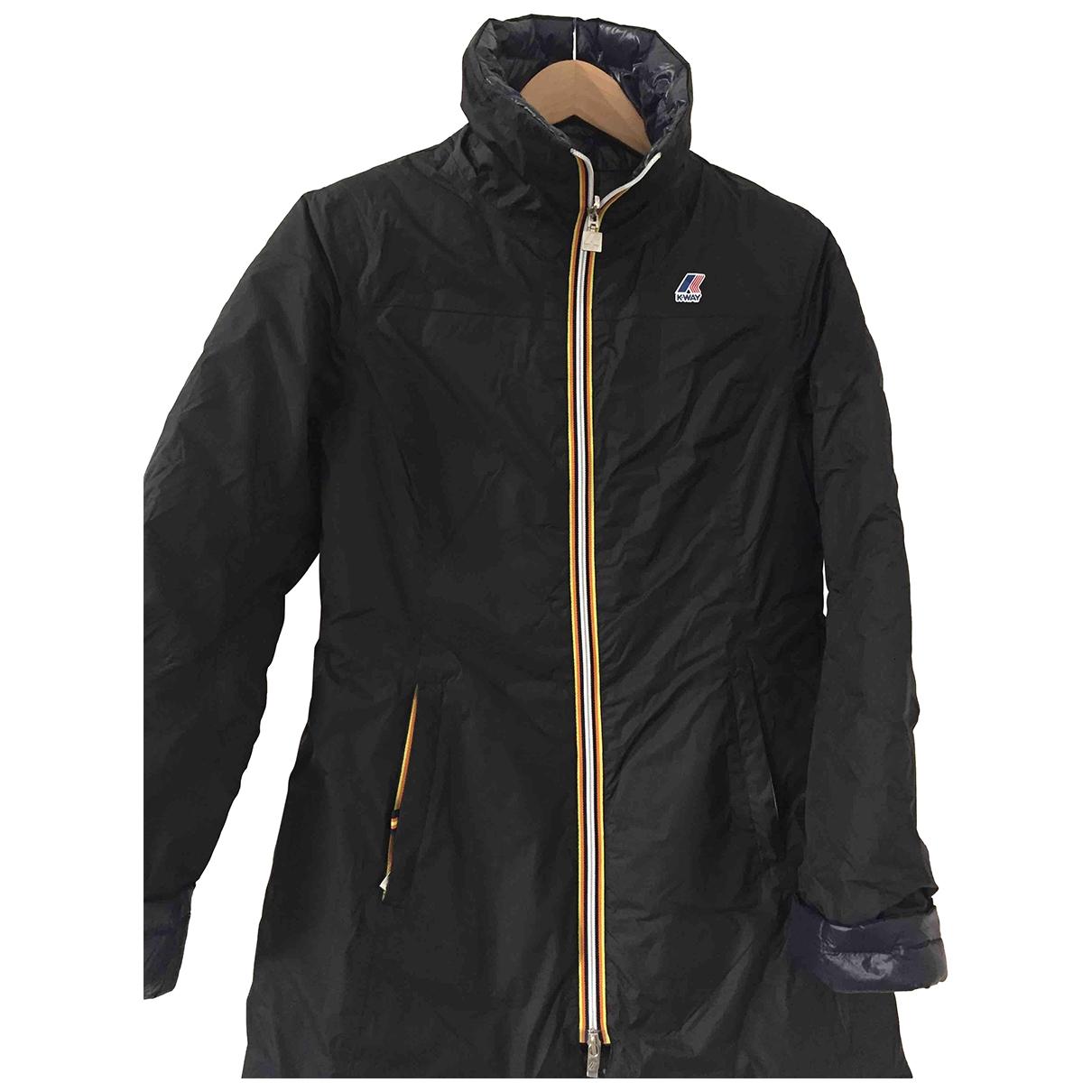 K-way \N Black Trench coat for Women 44 IT