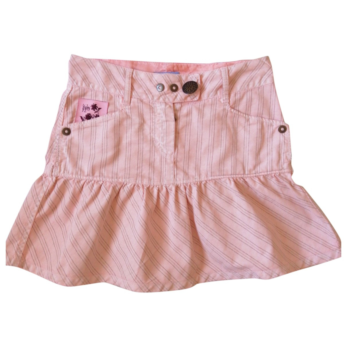 Kenzo \N Pink Cotton skirt for Kids 12 years - XS FR
