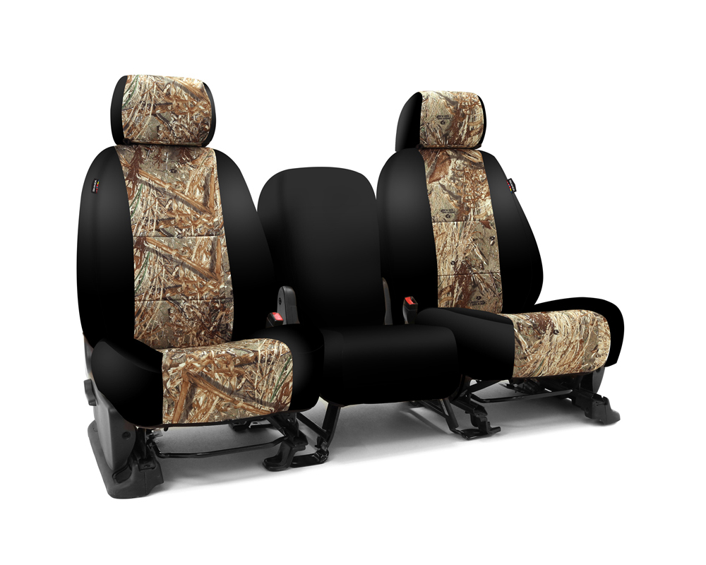 Coverking CSC2MO05CH7031 Skanda Custom Seat Covers 1 Row Neosupreme Mossy Oak Duck Blind with Black Sides Rear Chevrolet Silverado 2500 | 3500 2003-20