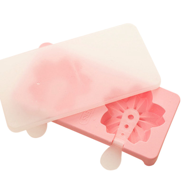 Cute Cat Claws Sakura Cherry Blossoms Shaped Popsicle Ice Cream Maker Frozen Pop Icy Ice Mold