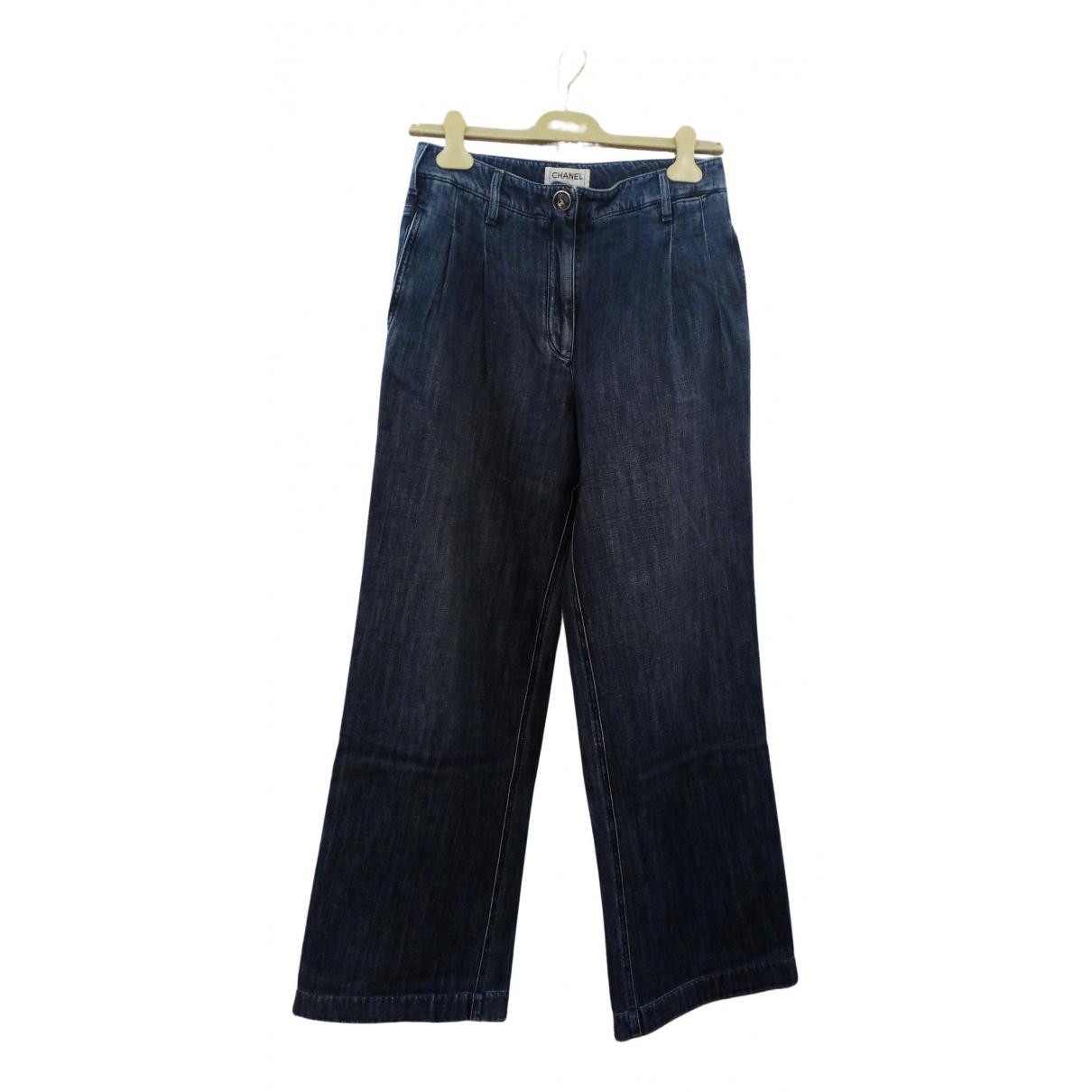 Chanel \N Blue Denim - Jeans Trousers for Women 38 FR