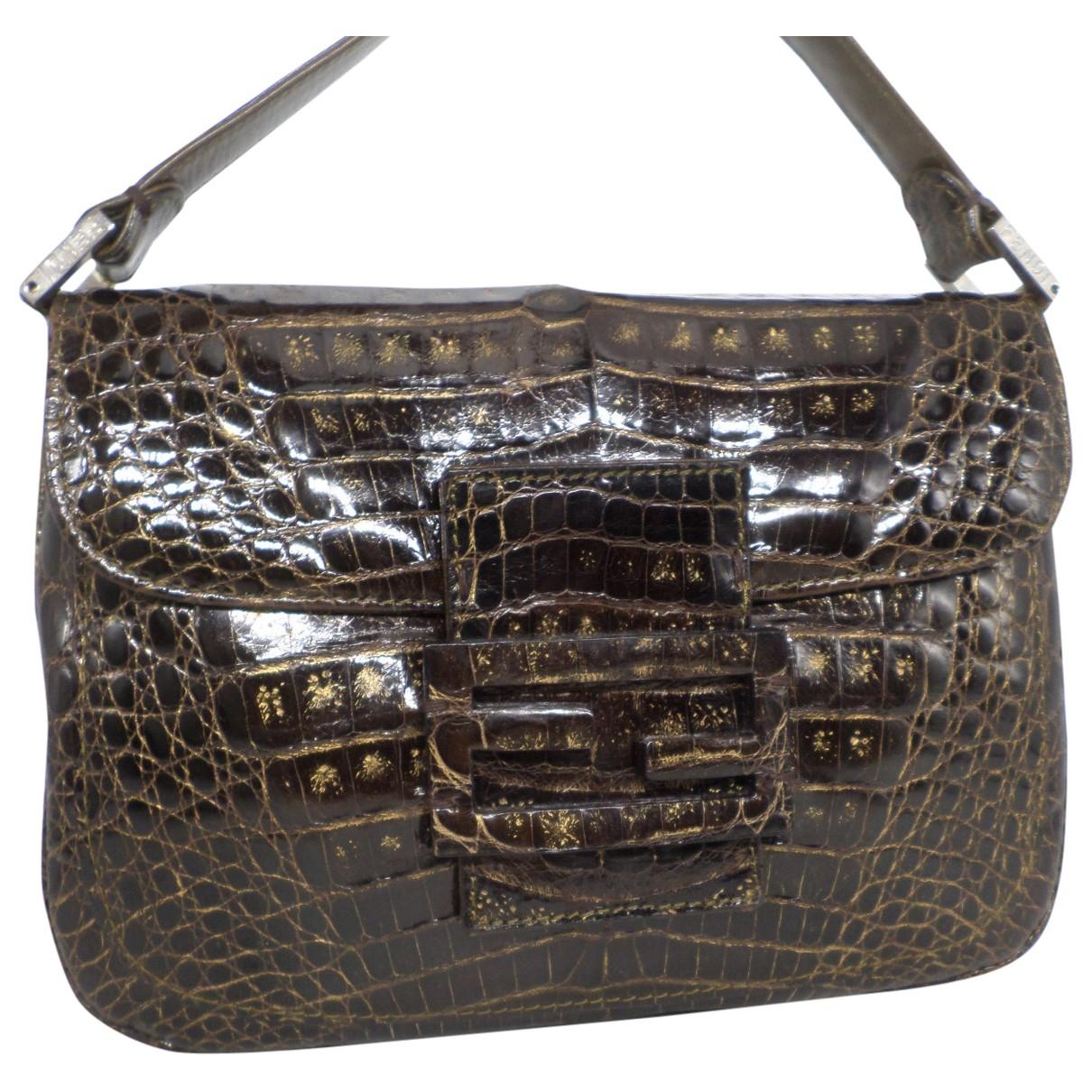 Fendi Baguette Brown Crocodile handbag for Women \N