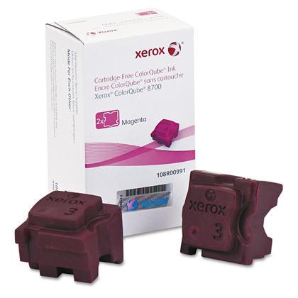 Xerox 108R00991 Original Magenta Solid Ink For ColorQube 8700 Printer 2 Sticks/Pack
