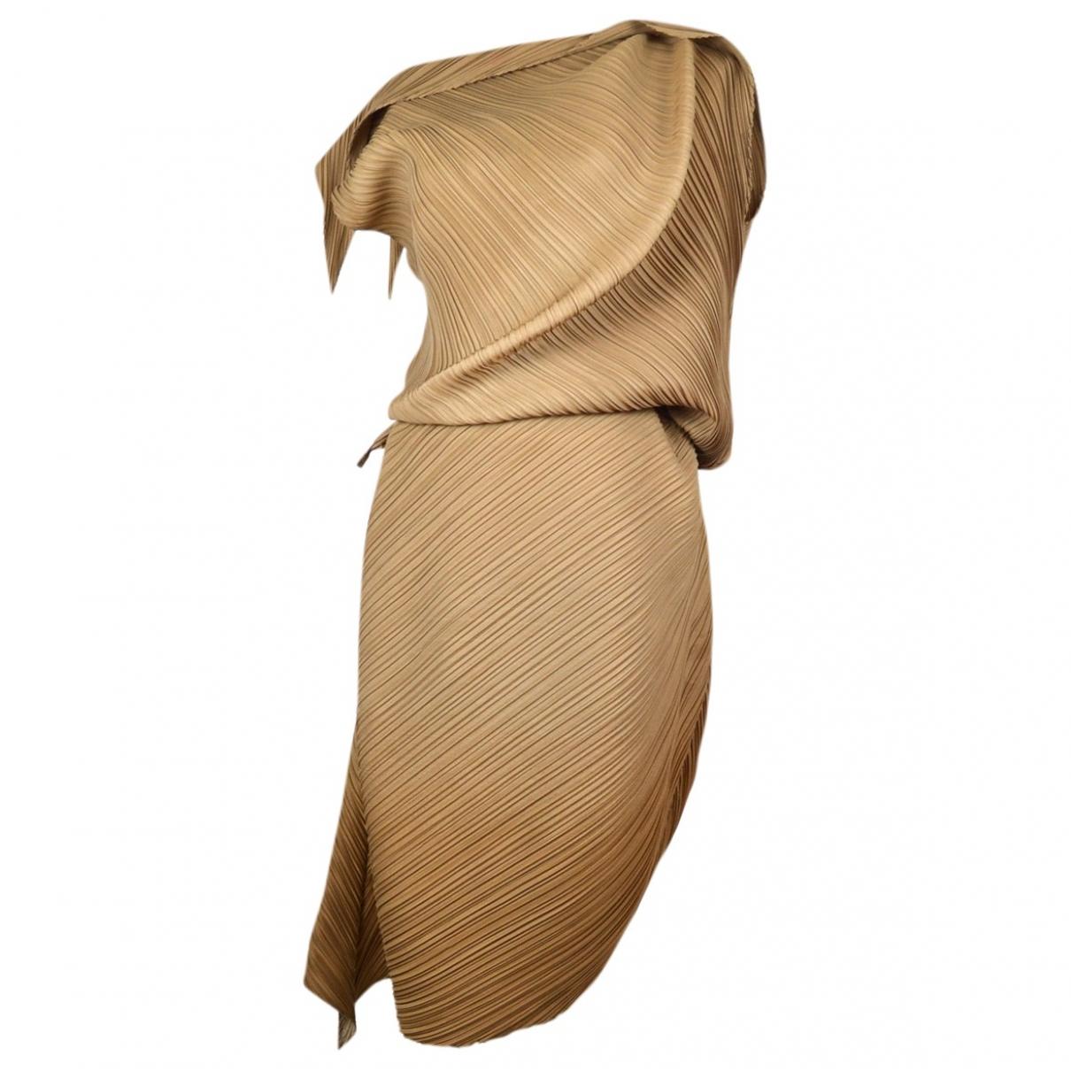 Issey Miyake \N Brown dress for Women 2 0-5