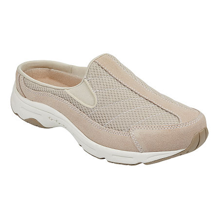 Easy Spirit Womens Hotrace Slip-On Shoe Round Toe, 10 Wide, White