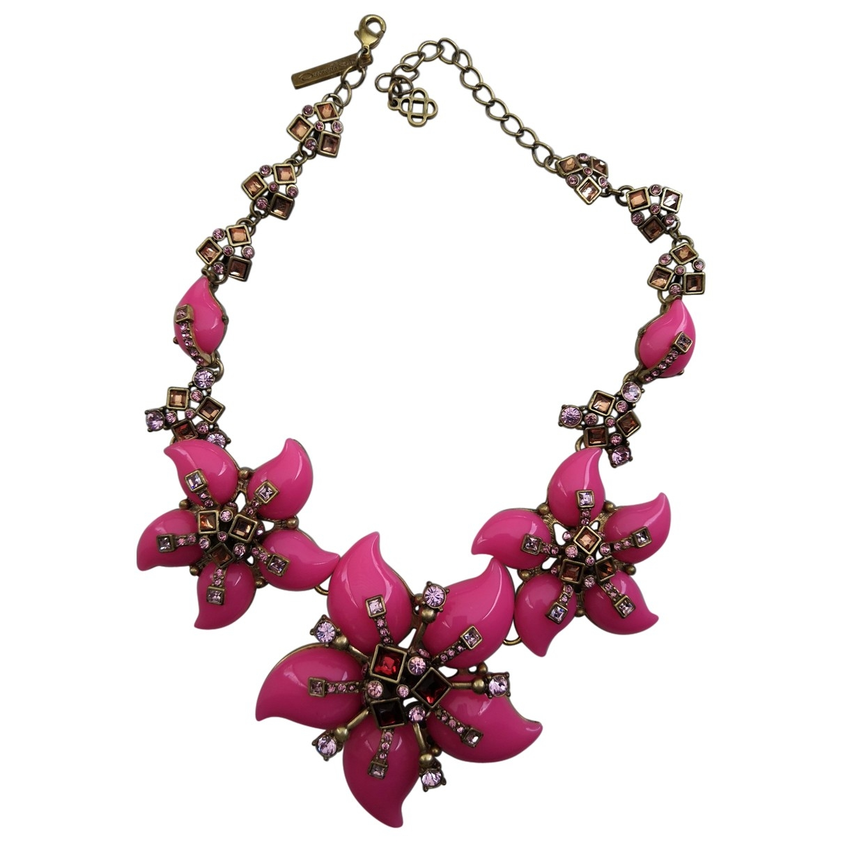 Oscar De La Renta \N Pink Metal necklace for Women \N
