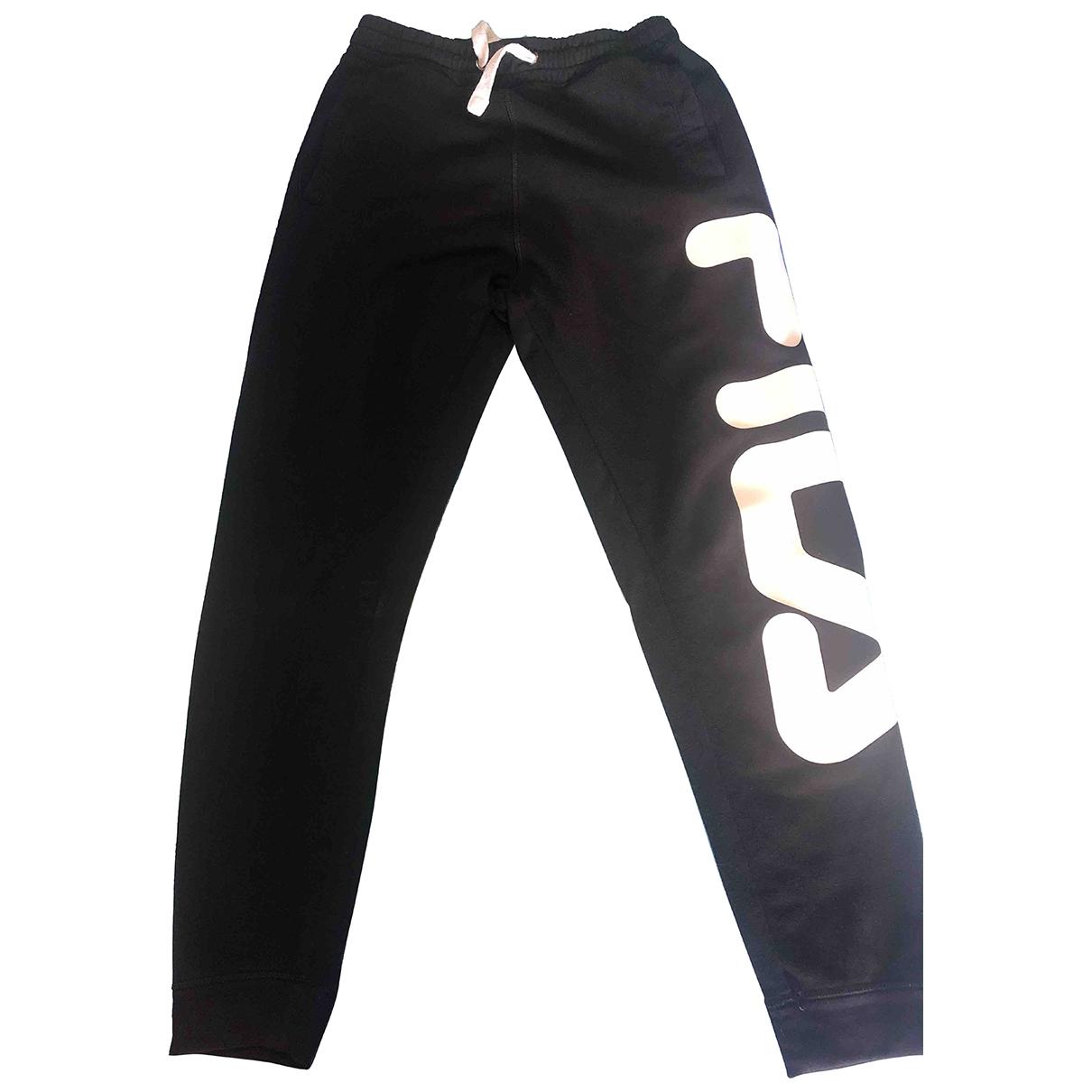 Fila \N Black Cotton Trousers for Men S International