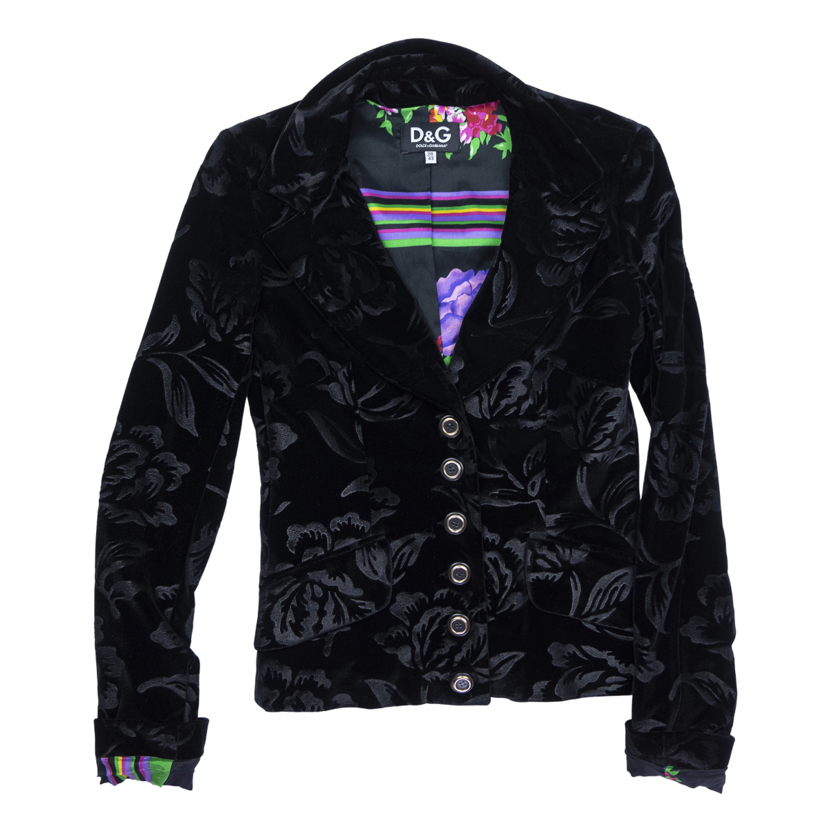 Dolce & Gabbana \N Black Suede jacket for Women 42 IT