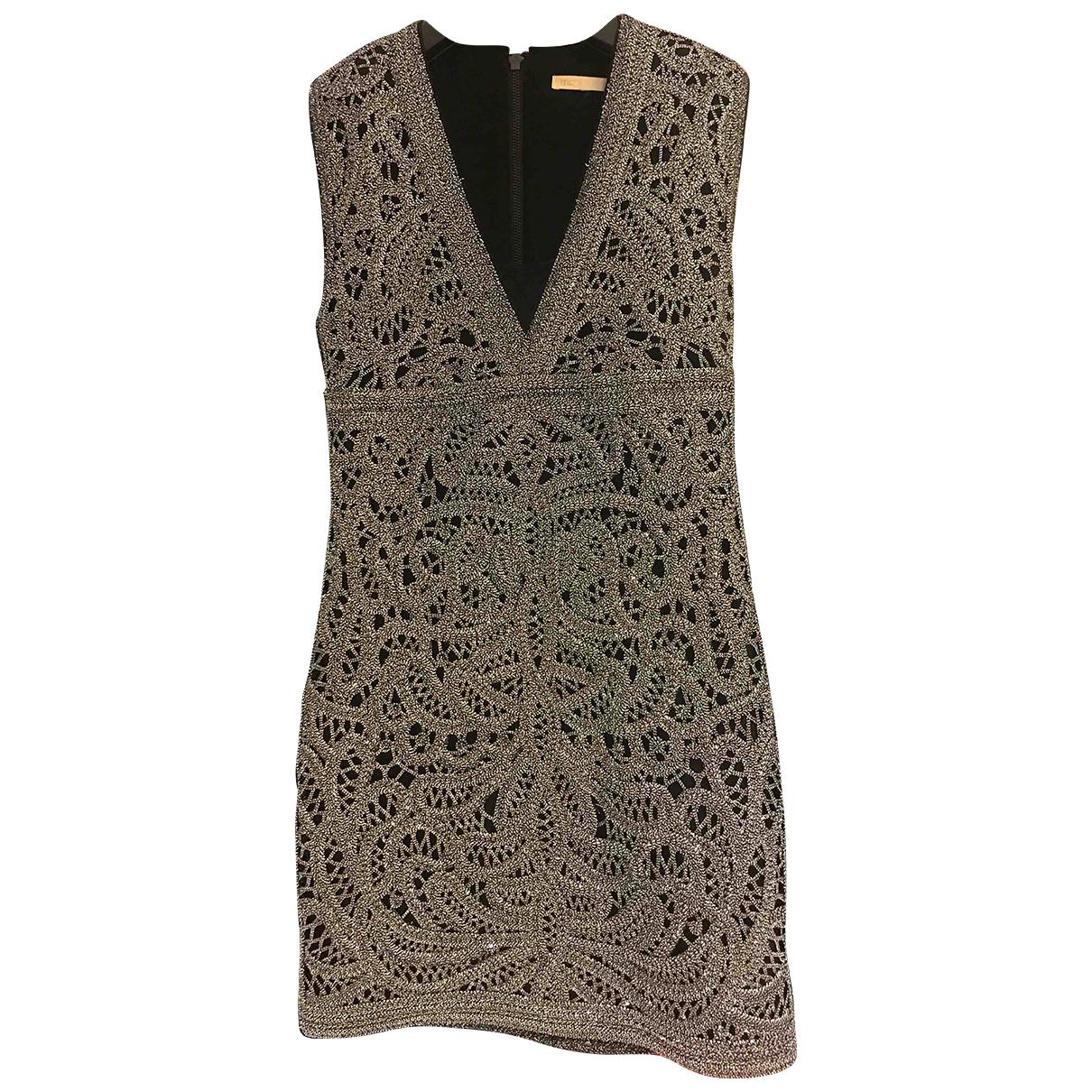 Maje \N Silver Cotton dress for Women 38 FR