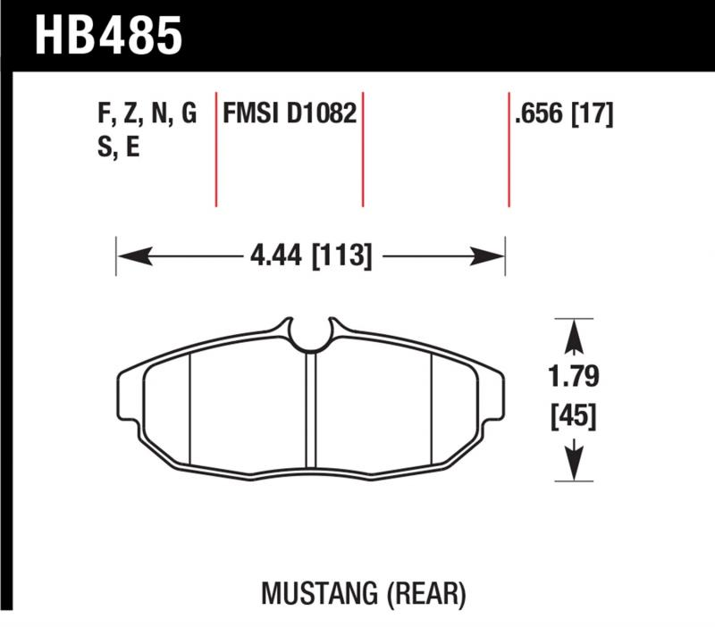 Hawk Performance HB485B.656 Disc Brake Pad Ford Mustang Rear 2005-2014