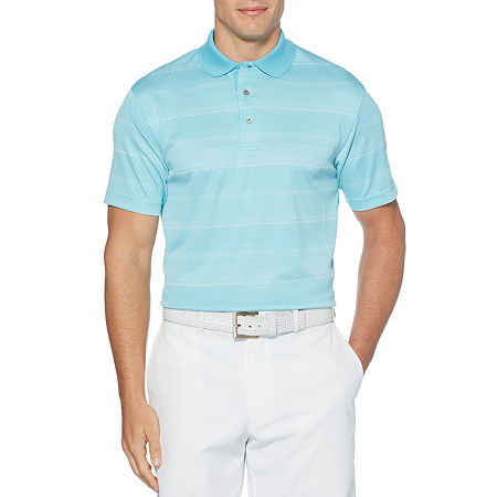 PGA TOUR Mens Crew Neck Short Sleeve Polo Shirt, Xx-large , Blue