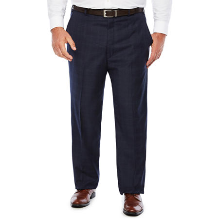 Stafford Woven Suit Pants Big and Tall, 50 32, Blue