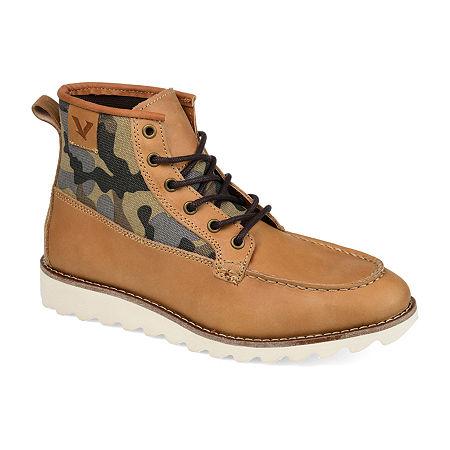 Territory Mens Boone Chukka Boots Block Heel, 9 1/2 Medium, Brown