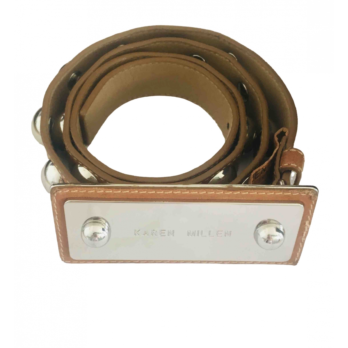 Karen Millen \N Brown Leather belt for Women S International