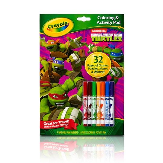 Crayola® Coloring & Activity Pad, Teenage Mutant Ninja Turtles   Michaels®