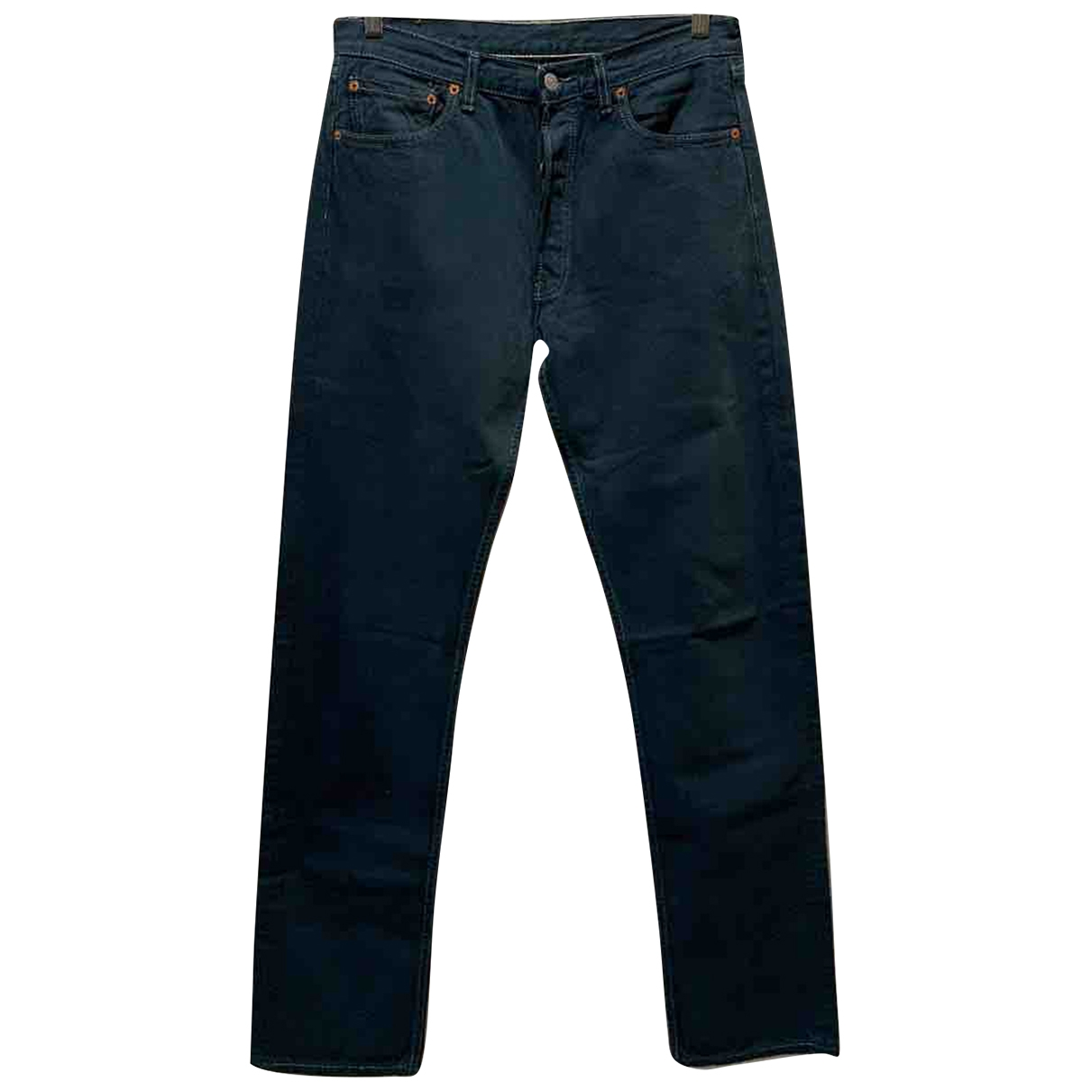 Levi's 501 Blue Cotton Jeans for Men 33 US