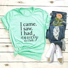 Letter Graphic Round Neck Tee