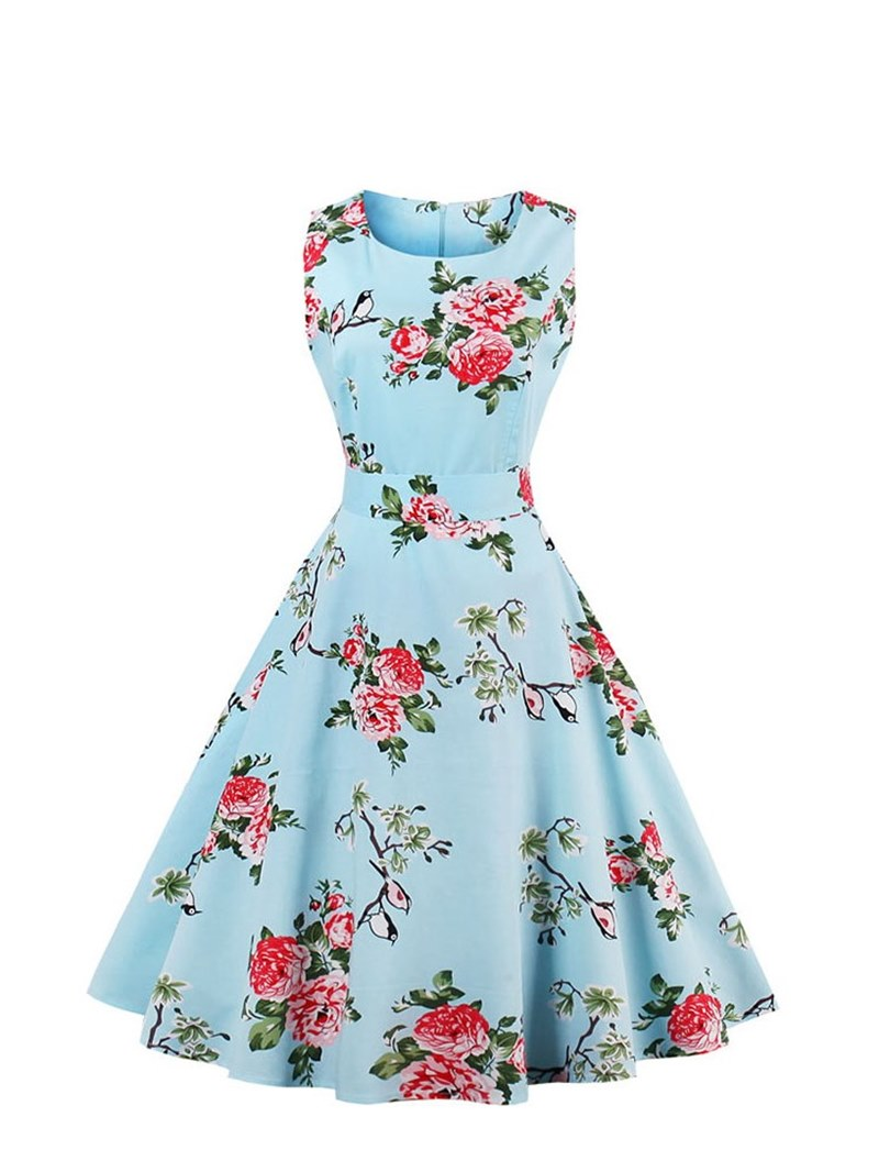 Ericdress Scoop Neck Printed A Line Homecoming Dress