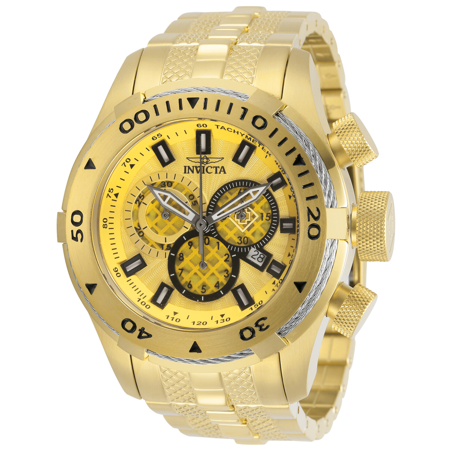 Invicta Men's Bolt 29745 Gold Stainless-Steel Quartz Dress Watch